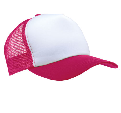Casquette filet rose-blanc