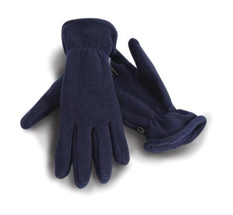 Gants polyester bleu marine