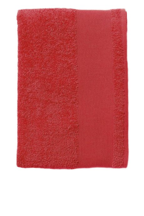 Serviette coton rouge