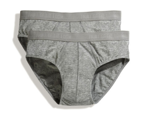 Slip coton gris