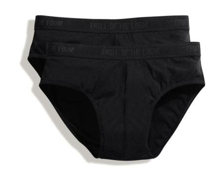 Slip coton noir