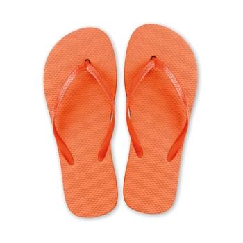 Tongs plage orange
