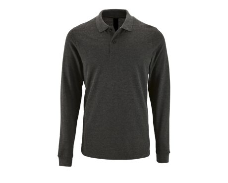 Polo manches longues anthracite