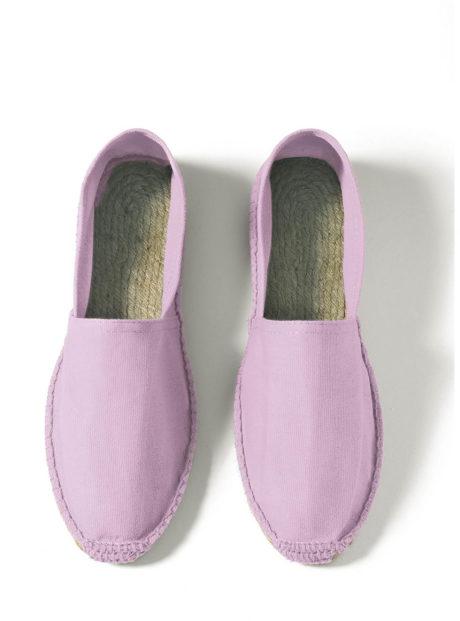Espadrilles cotons violet clair
