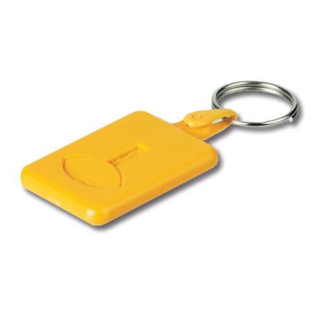 Porte clé plastique jaune