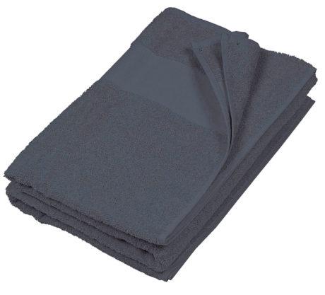 Serviette de plage coton grise