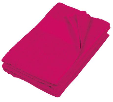 Serviette plage coton rose