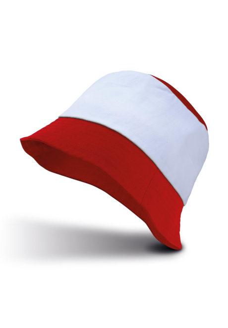 Bob bicolore rouge et blanc