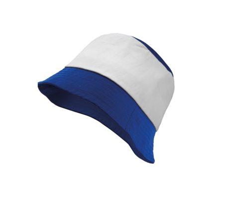 Bob bicolore bleu et blanc