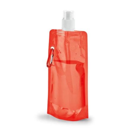 Gourde plastique pliable rouge