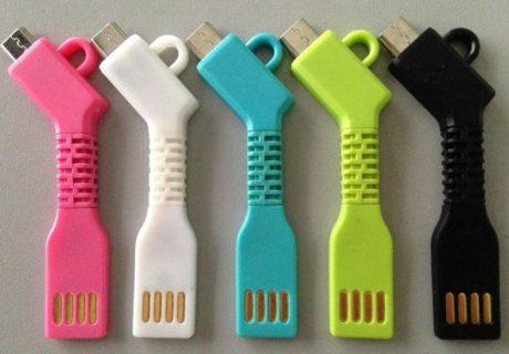 gamme de couleurs pour porte clé chargeur personnalisable