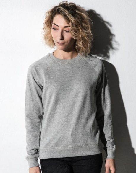 sweat col rond gris
