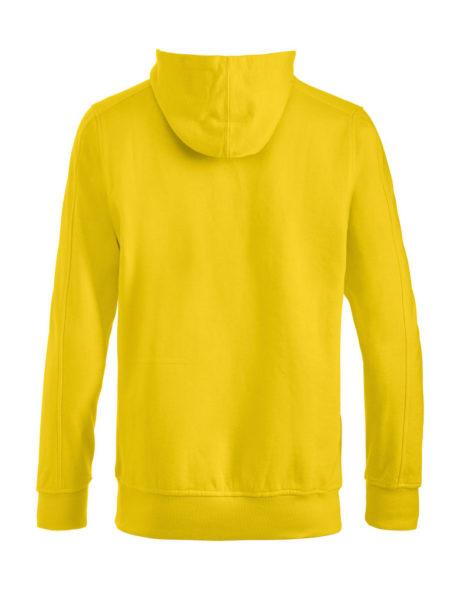 sweat à capuche dos jaune