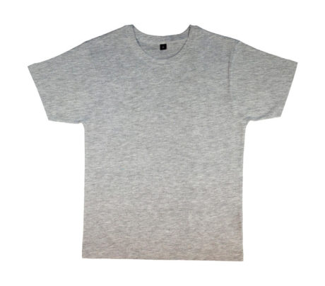 tee shirt col rond gris chiné