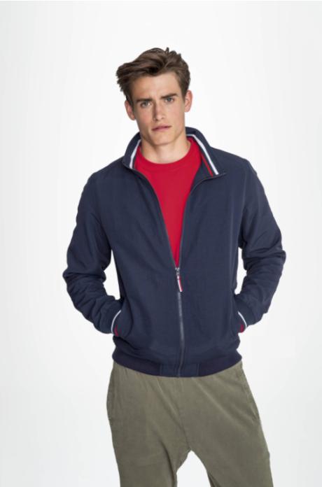 Veste zip col tricolore personnalisable
