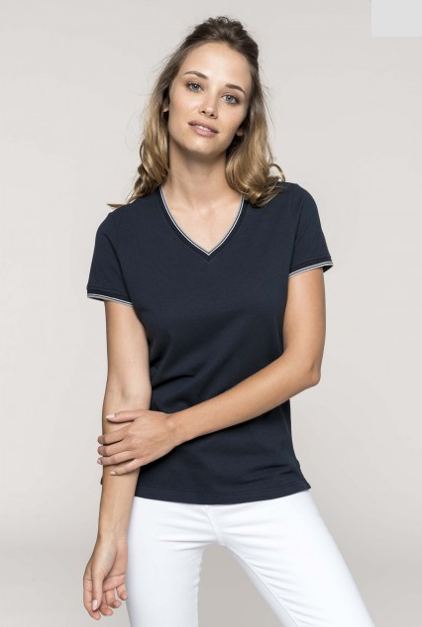 tee-shirt col v femme personnalisable