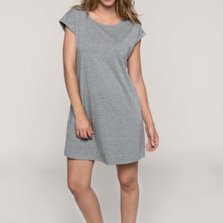 tee shirt robe gris chiné