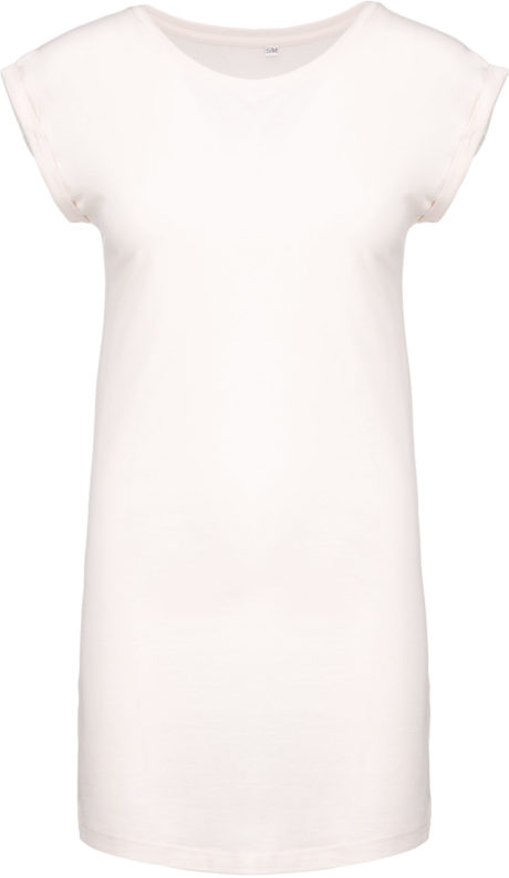 Tee shirt robe blanc cassé