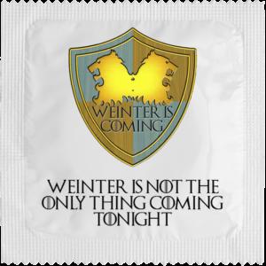 Préservatif avec logo winter is coming