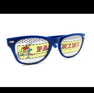 Maquette lunettes bleu panini